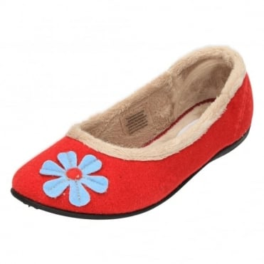 Happy E Wide Fitting Washable Ballerina Slippers