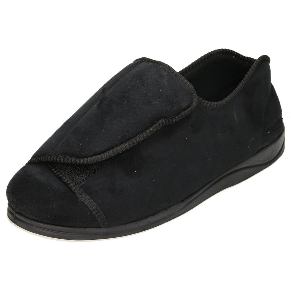 Padders Peter Extra Wide Fit Washable Hook Amp Loop Slippers