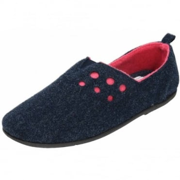 Riva Dual Wide Fitting Washable Felt Slippers