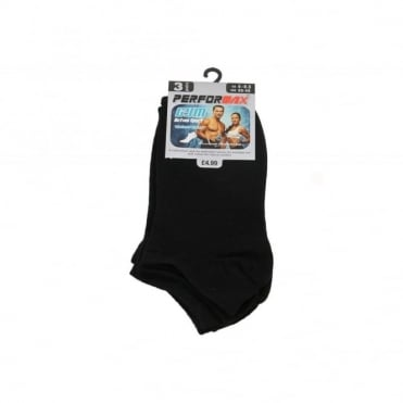 Ladies Black Gym Active Trainer Liner Socks