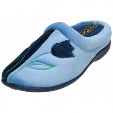 Slipper Mules Clogs Wedge Heel Memory Foam Tulip