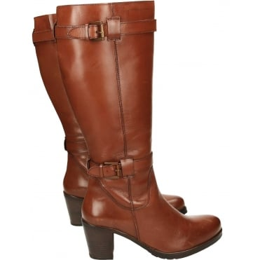 Dothan Heeled Leather Knee Boots 7/40 NEW WITH DEFECT