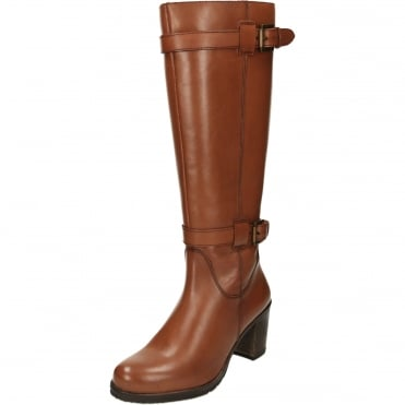 Dothan Heeled Leather Knee Boots