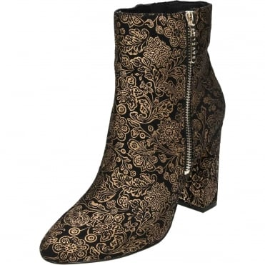 Fenice Heeled Ankle Boots Floral Print