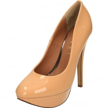 Patent Platform High Heel Court Shoes