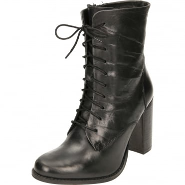 Randall Leather Lace Up Heeled Ankle Boots
