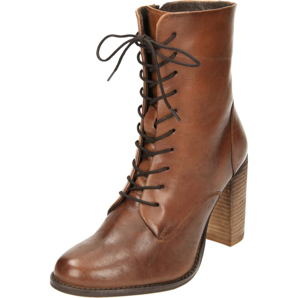 Ravel Randall Leather Lace Up Heeled Ankle Boots