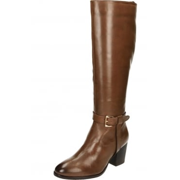 Waller Leather Heeled Knee High Boots