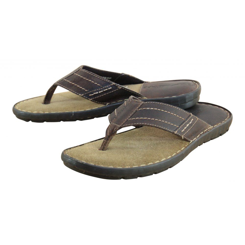 mens leather flip flops uk