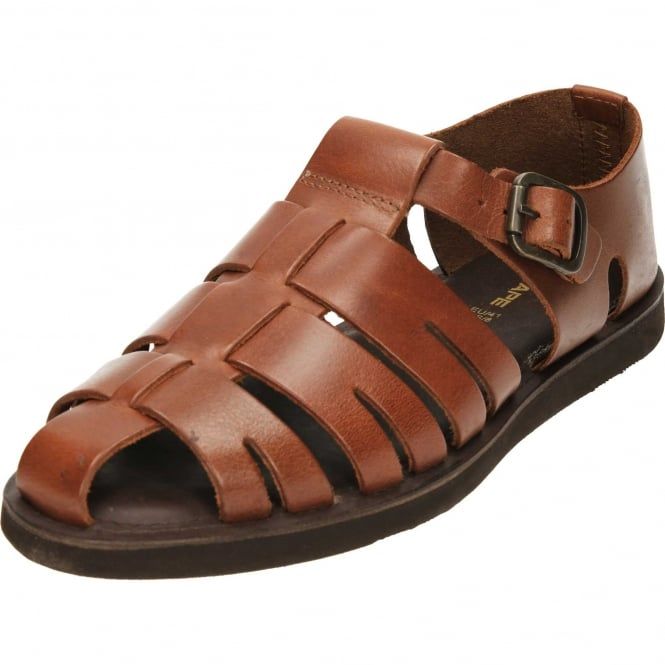Red Tape Mens Leather Gladiator Summer Sandals