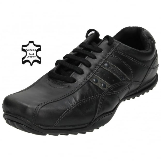 Red Tape Mens Real Leather Casual Lace Up Trainers Shoes