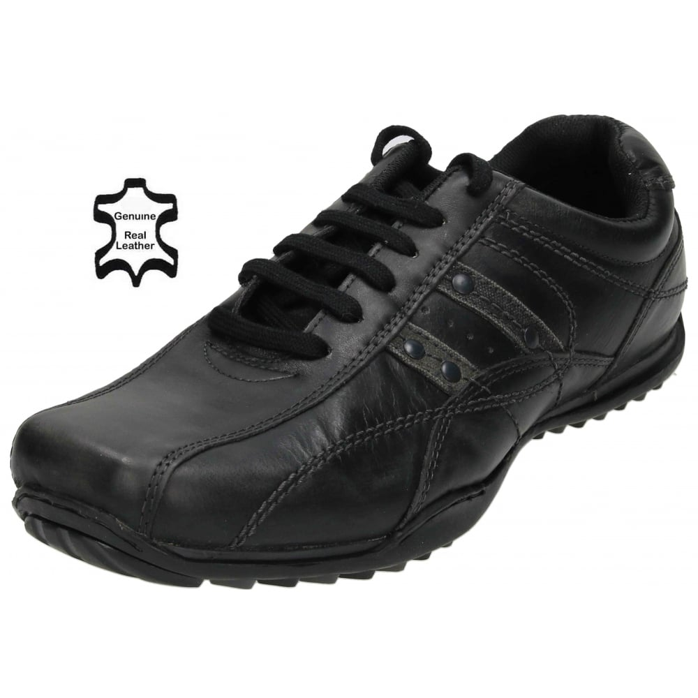 Red Tape Mens Real Leather Casual Lace