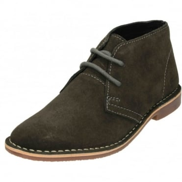 Mens Real Suede Leather Lace Up Desert Boots
