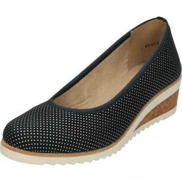 D5500-14 Wedge Slip On Heeled Shoes