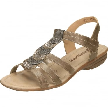 Strappy Flat Gladiator Glitter T Bar Sandals