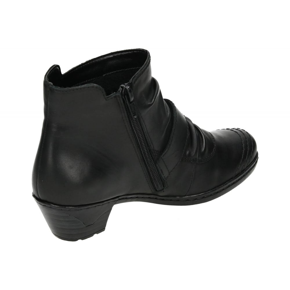 black leather low heel ankle boots coltford boots