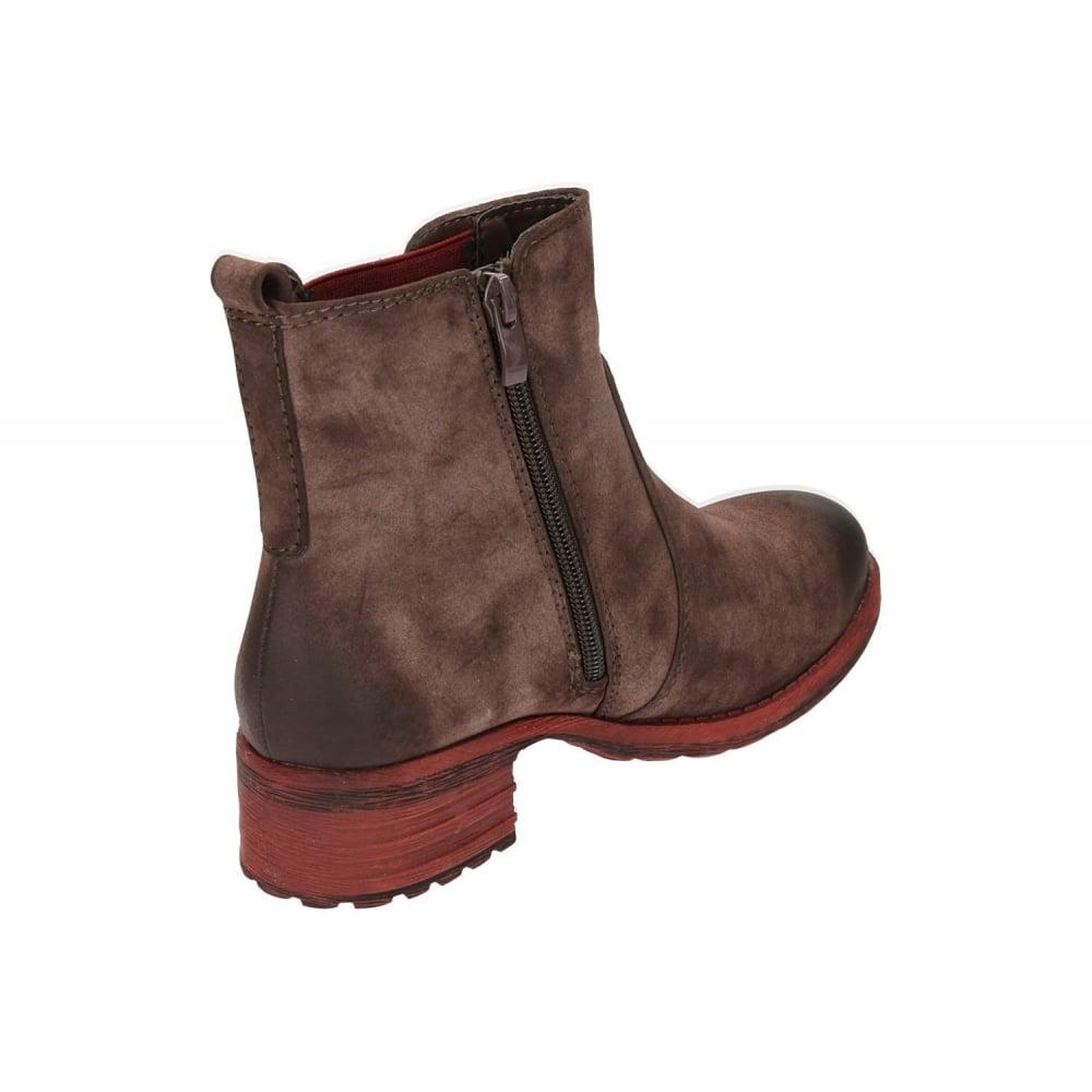 rieker 96863 26 brown low heel flat chelsea ankle boots