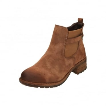 96864-24 Brown Low Heel Chelsea Ankle Boots