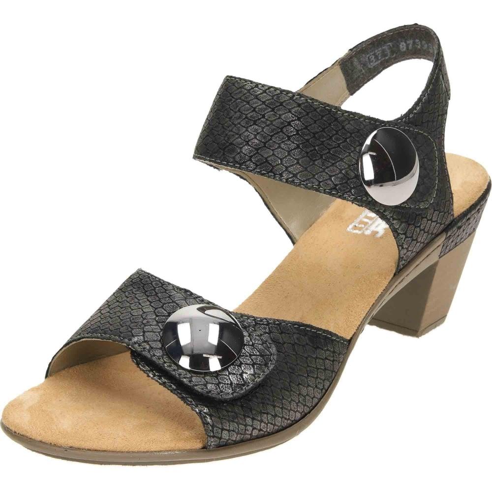 854b4dd3284ae Rieker Antistress Touch Fastening Heeled Sandals 67369-45 - Ladies Footwear  from Jenny-Wren Footwear UK