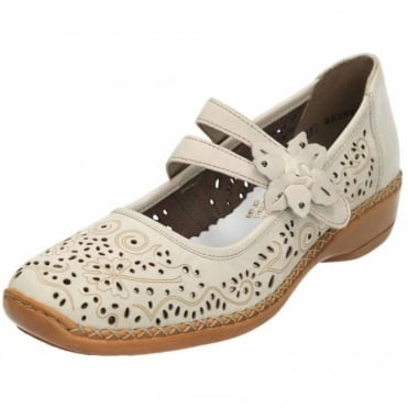 Casual Leather Mary Jane Flat Shoes 41372