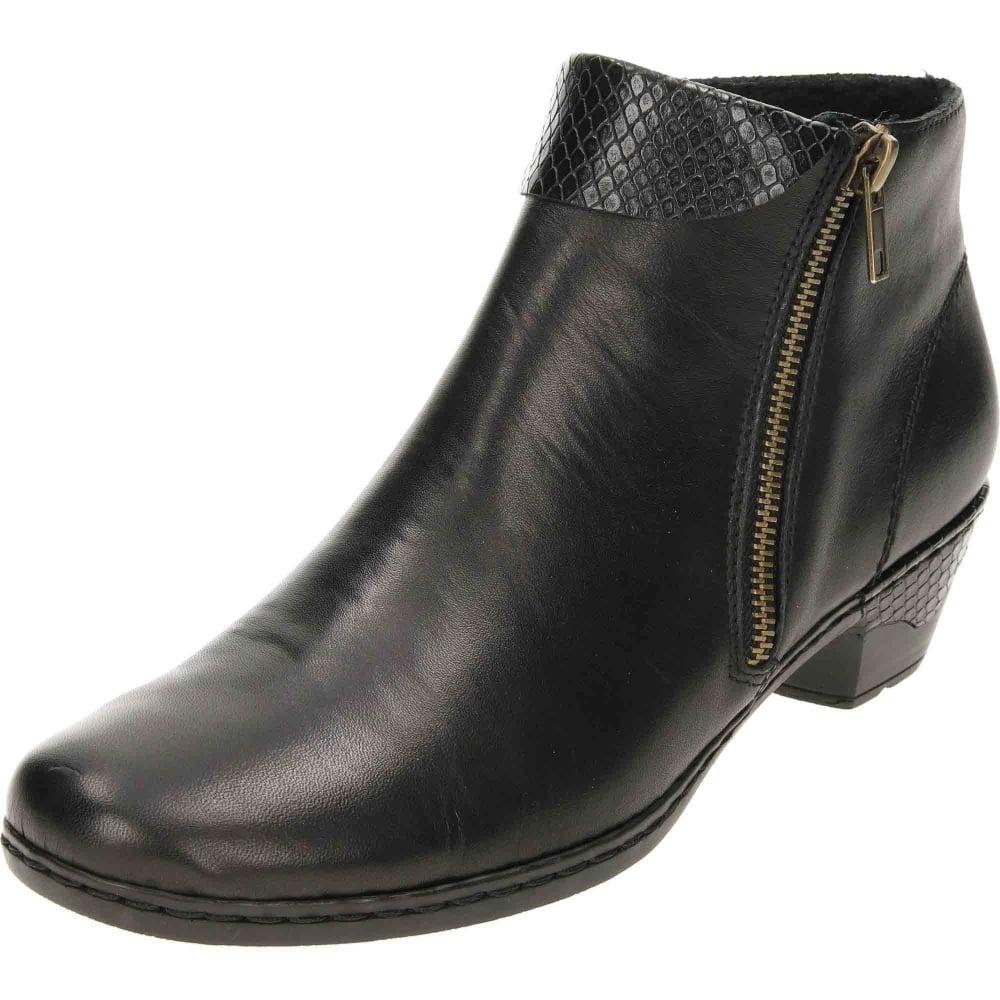Rieker Flat Low Heel Ankle Boots