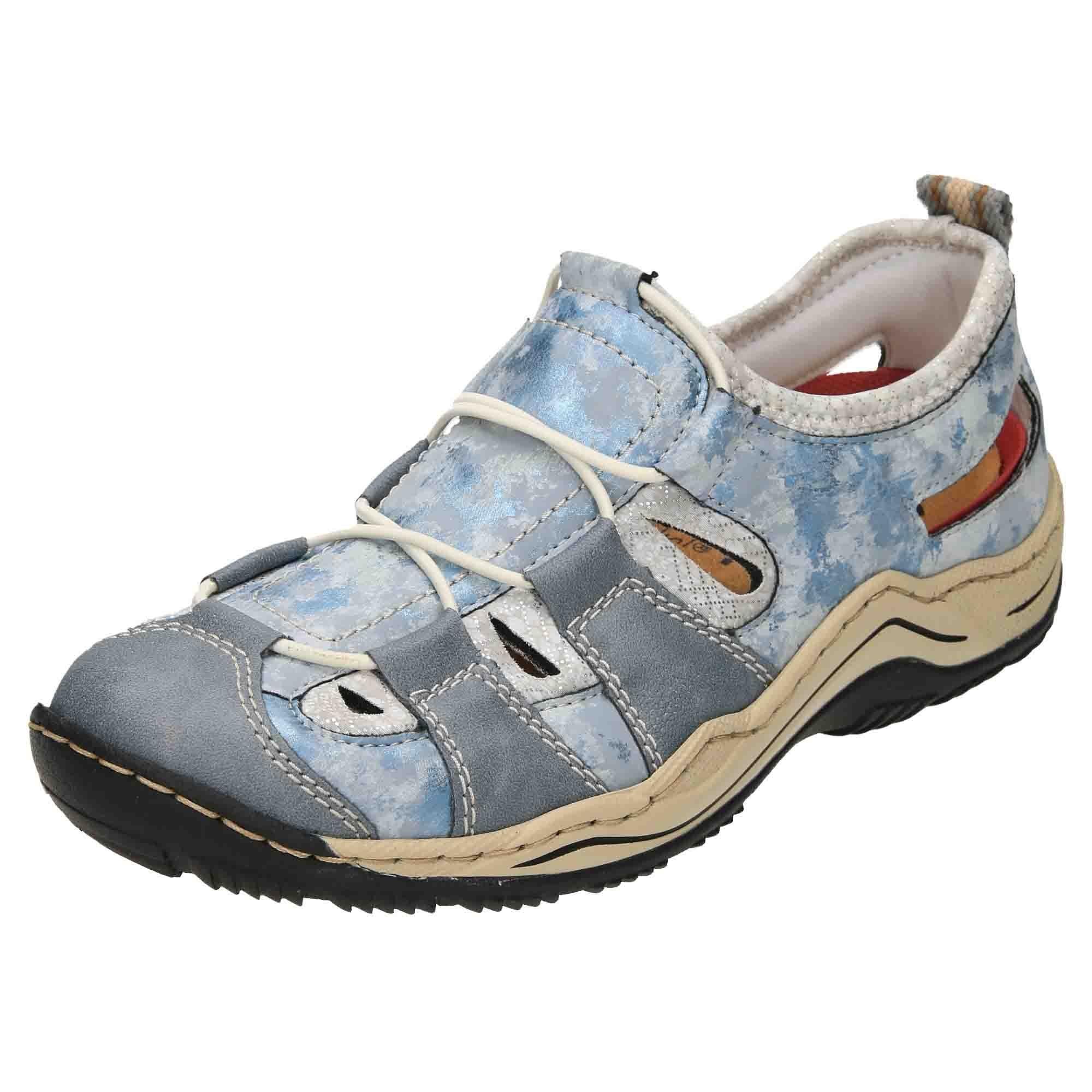 Rieker L0561-12 Slip On Cut Out Shoes