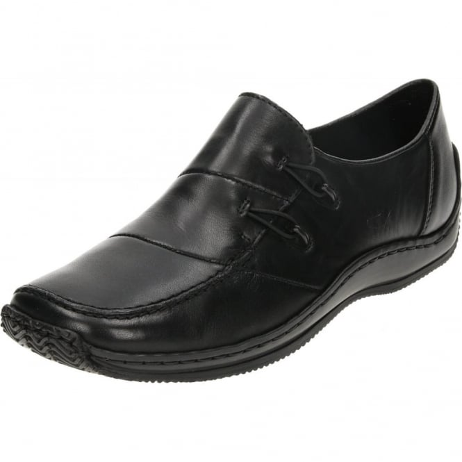 Rieker L1762 Slip on Flat Loafers Leather Shoes