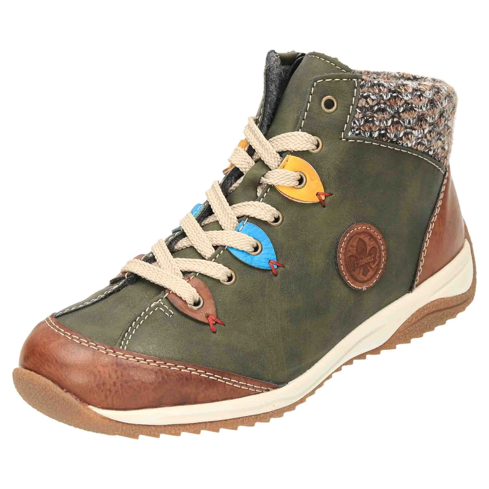 huge inventory size 7 sports shoes Rieker Lace Up Ankle Boots High Top Shoes L5222-24 - Ladies ...