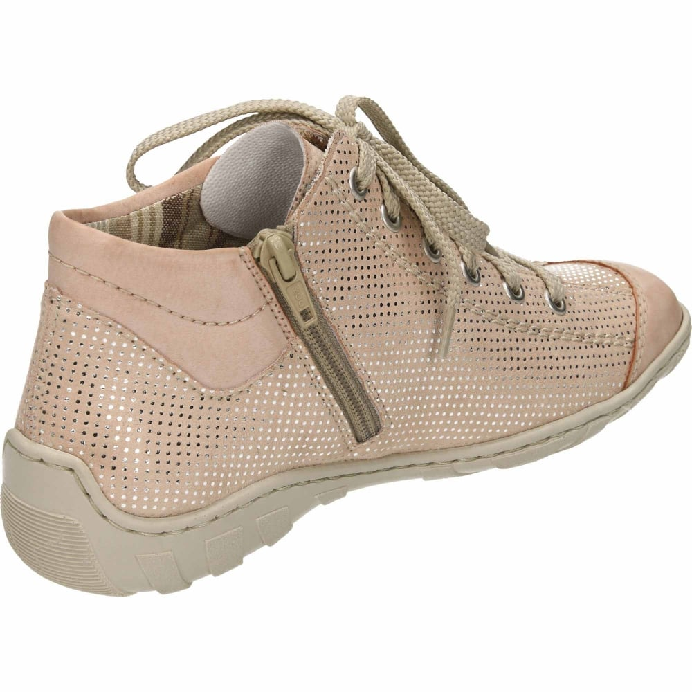 Rieker Lace Up High-Top Trainers M3738