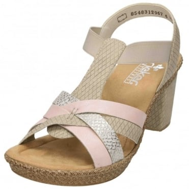 Ladies 66599-32 Block Heel Platform Strappy Sandals Shoes