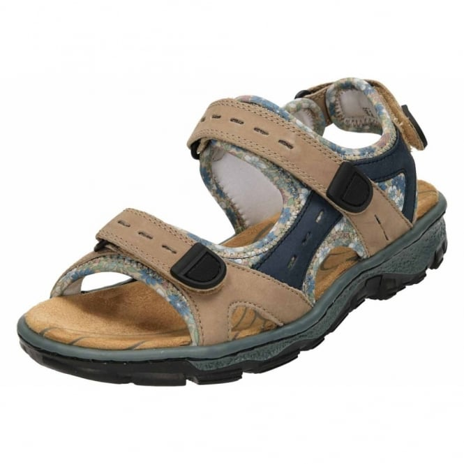Rieker Open Toe Casual Leather Trekking Sandals 68872-25