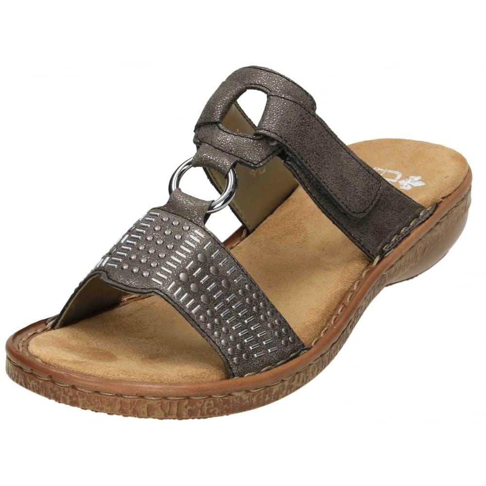 480cd40c807e Rieker Slip On Sandals Mules Open Toe 62854 - Ladies Footwear from  Jenny-Wren Footwear UK