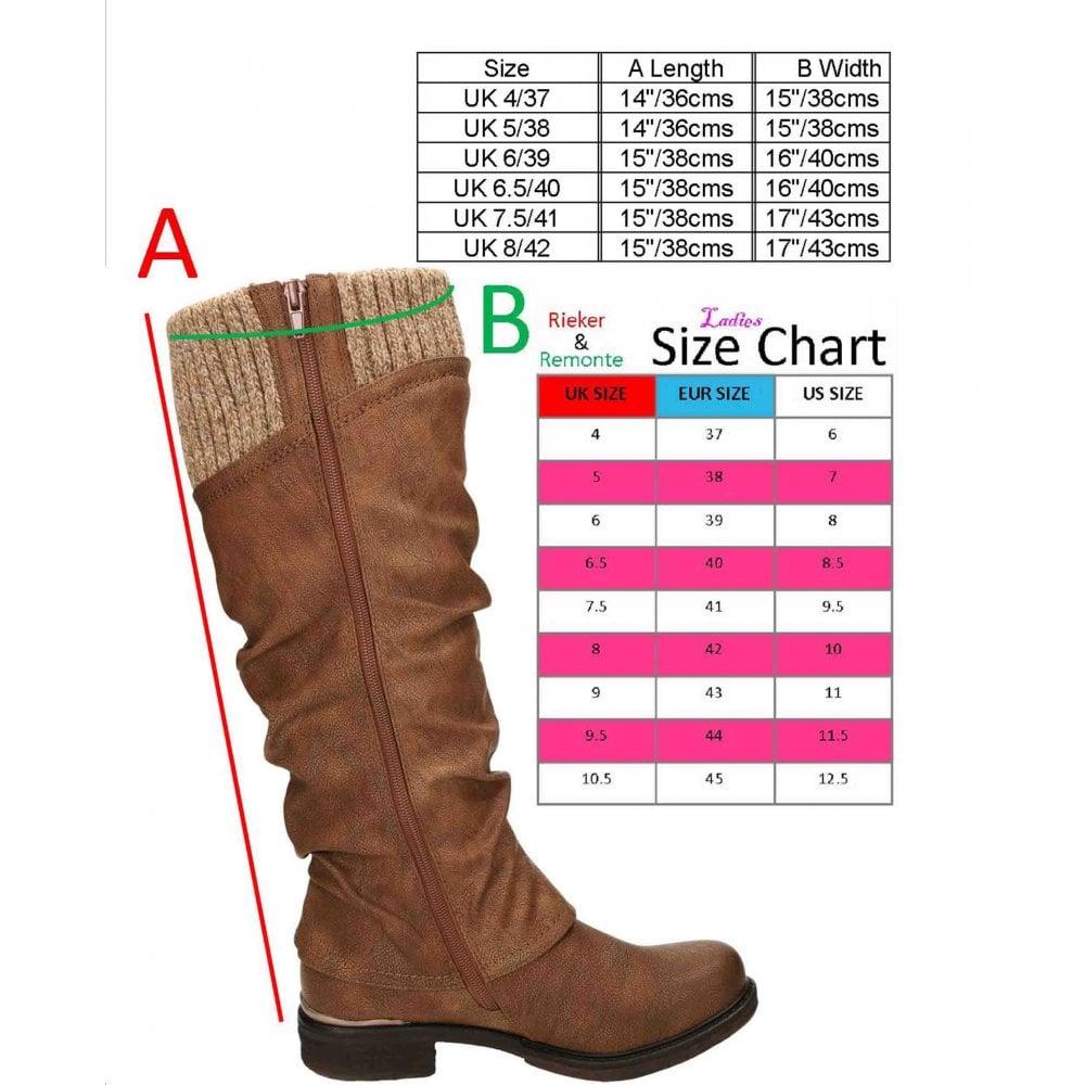 Rieker Ladies Long Boots 98956 xBhbW