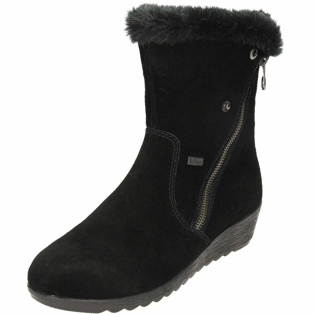 267cfb723e6f4 Rieker TEX Wool Lined Wedge Heel Ankle Boots X2470-00 - Ladies Footwear  from Jenny-Wren Footwear UK