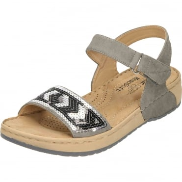 Wedge Heel Platform Open Toe Sandals Grey V5778-42