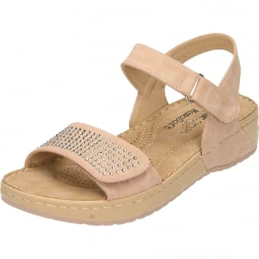 Wedge Heel Platform Open Toe Sandals Pink V5772-31