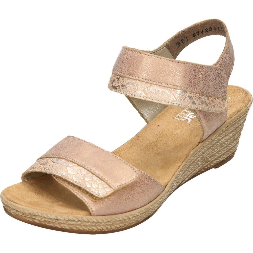 eae8992f2a0 Rieker Wedge Heeled Platform Open Toe Sandals 62470-31 - Ladies ...