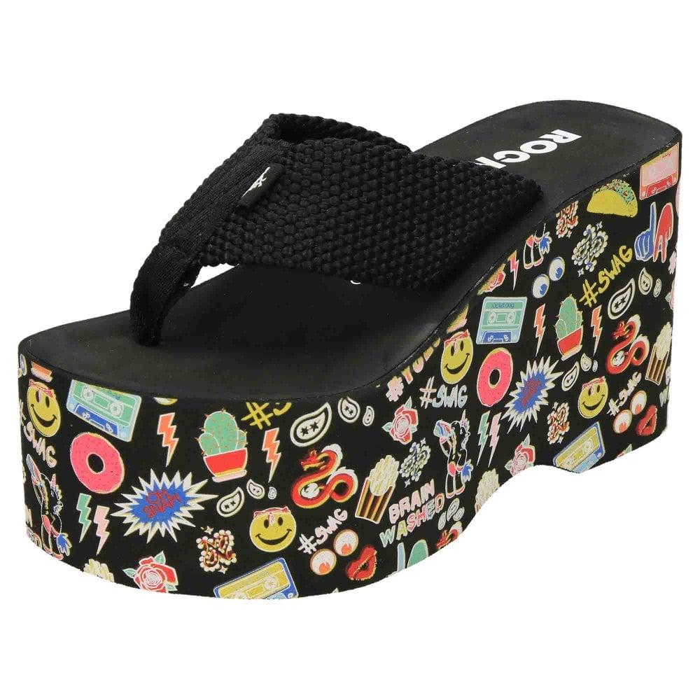 fd495638c Rocket Dog Big Top Webbing Platform Flip Flops - Ladies Footwear ...