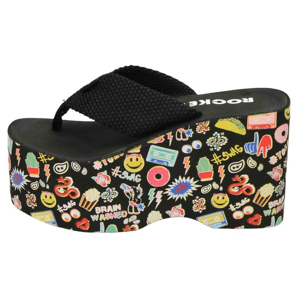 85565ca16733 Rocket Dog Big Top Webbing Platform Flip Flops - Ladies Footwear ...