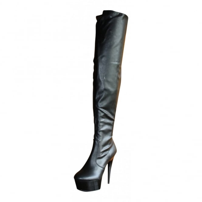 Sexyca Ladies Sexy Over Knee Thigh High Heel Stiletto Platform Patent Boots