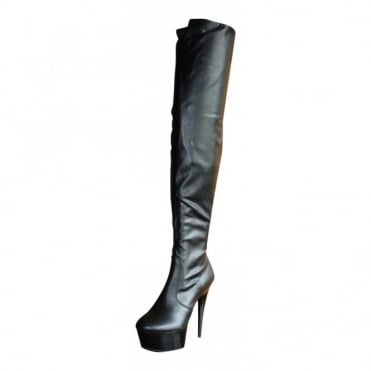 Ladies Sexy Over Knee Thigh High Heel Stiletto Platform Patent Boots