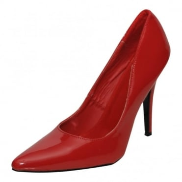 Mens Ladies Sexy Red Patent High Heel Stiletto Point Party Court Shoes Men Sizes
