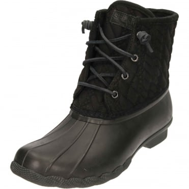 Top-Sider Saltwater Rope Rubber Quilted Wellington Ankle Boots