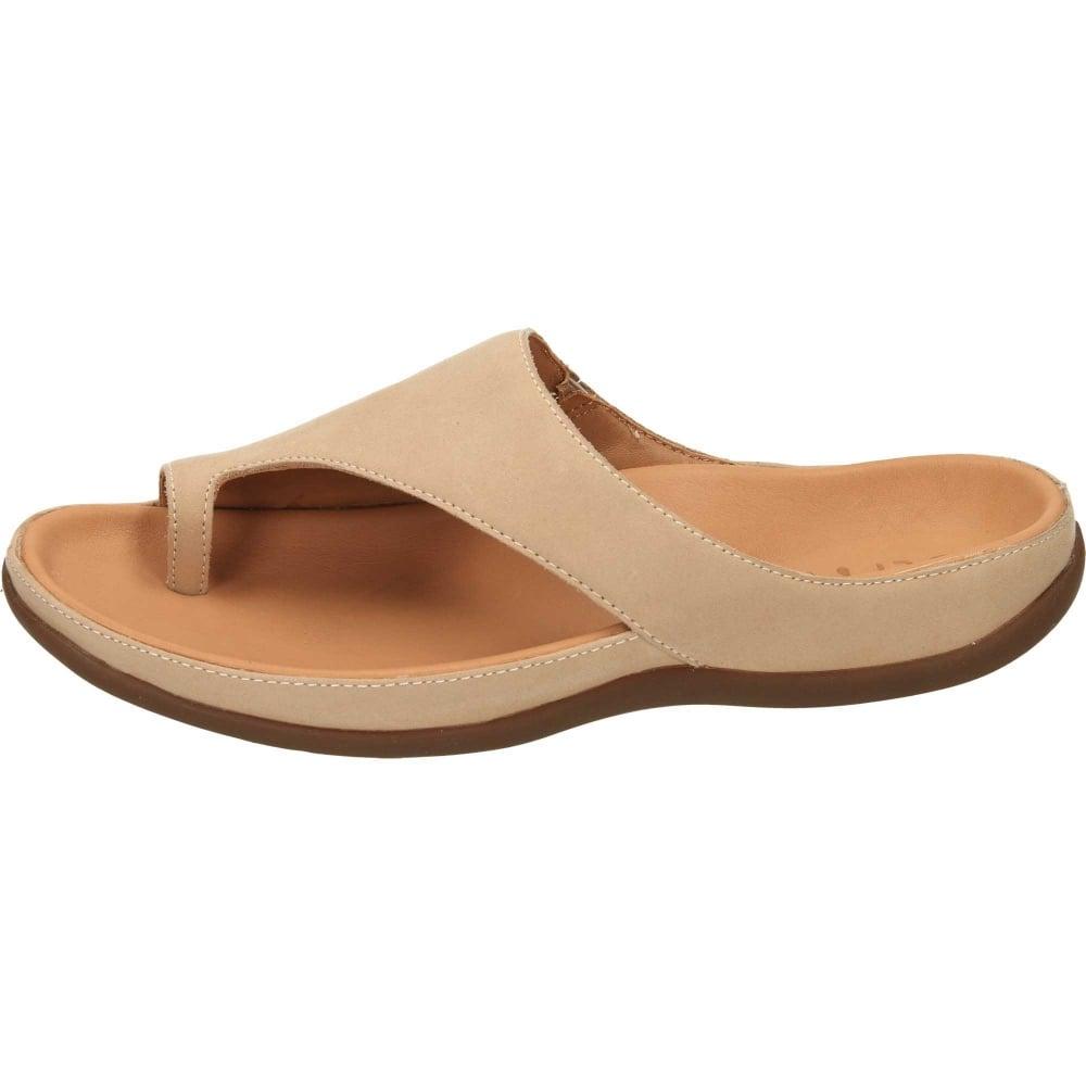 38621124f045 Capri Leather Slip On Toe Loop Mules Flat Orthotic Sandals size 9 only