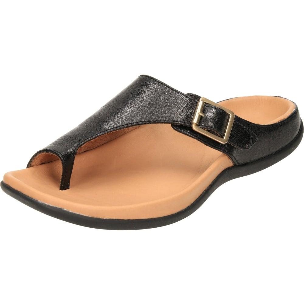 05c7001fdcd Strive Java Orthotic Slip On Toe Loop Flat Leather Sandals - Ladies ...