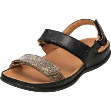 Kona Leather Open Toe Flat Orthotic Adjustable Sandals