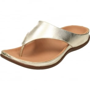 87e09466667b Strive Capri Leather Slip On Toe Loop Mules Flat Orthotic Sandals ...