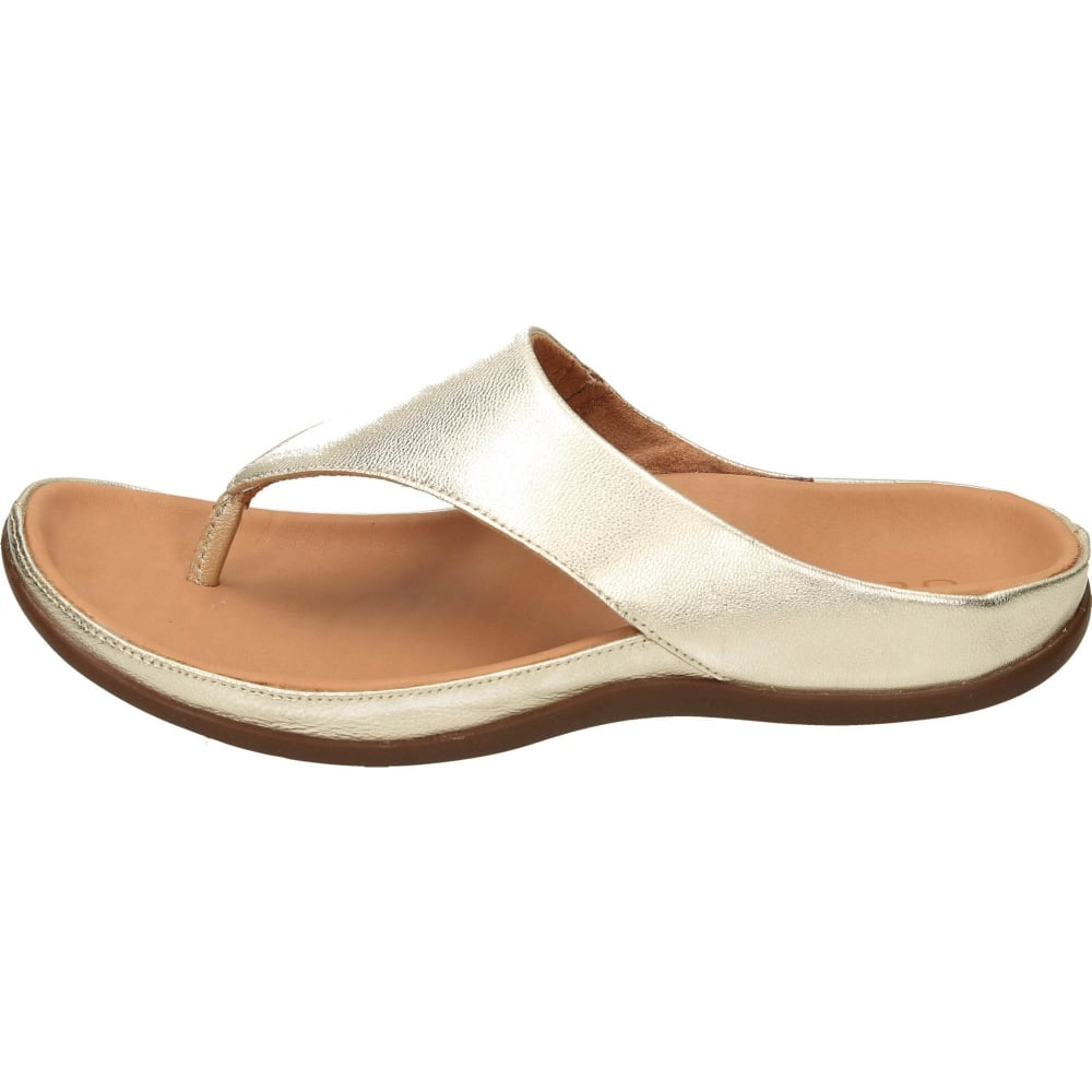8f1f3bd331f2db Strive Maui Orthotic Slip On Toe Post Flat Leather Sandals - Ladies ...