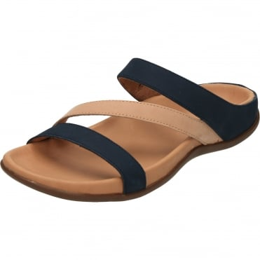 82b75339b3655 Trio Orthotic Slip On Mule Leather Flat Sandals