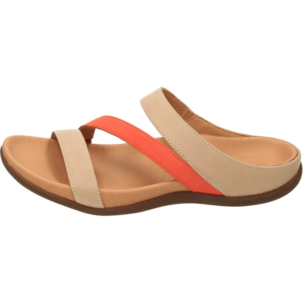 e776a301c71b4 Strive Trio Orthotic Slip On Mule Leather Flat Sandals - Ladies ...